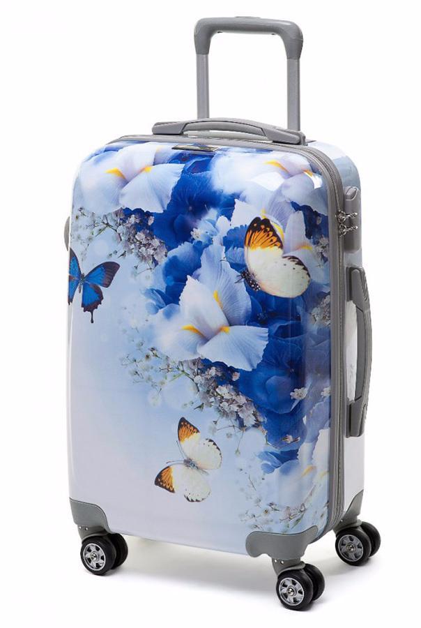 Пластиковые чемоданы для девочек